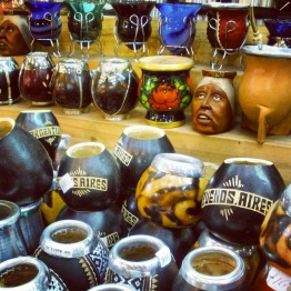 Cups for Mate, the most popular beverage among Argentineans