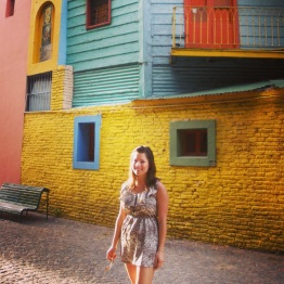 In La Boca, a famous neighborhood in Buenos Aires