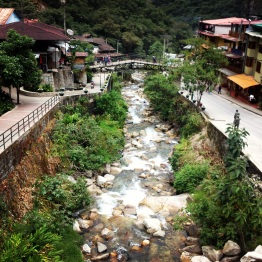View from the bridge over Rio Urubamba