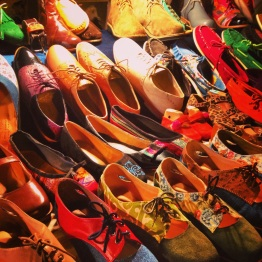 Handmade shoes for sale in Parque Kennedy