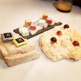 Marshmallows and chocolates