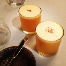Maracuya (passion fruit) and homemade Pisco Sour