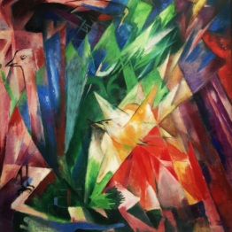 """Vögel"" by Franz Marc"