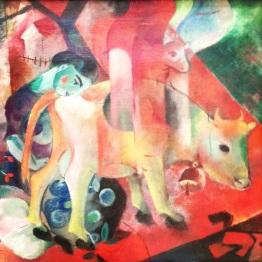 """""""Bild Mit Kuh"""" by Heinrich Campendonk"""