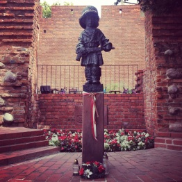 Mały Powstaniec (Little Insurgent Monument)—in commemoration of the child soldiers who fought and died in the Warsaw Uprising
