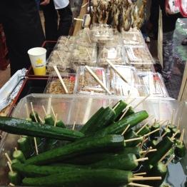 Cucumbers on a stick