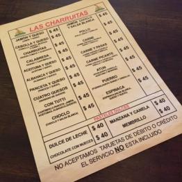 Las Charruitas menu